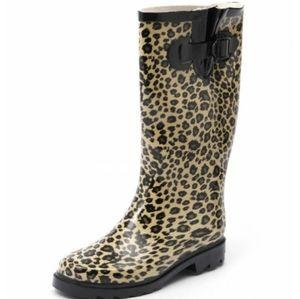 Call it Spring Leopard Calf Length Rain Boot
